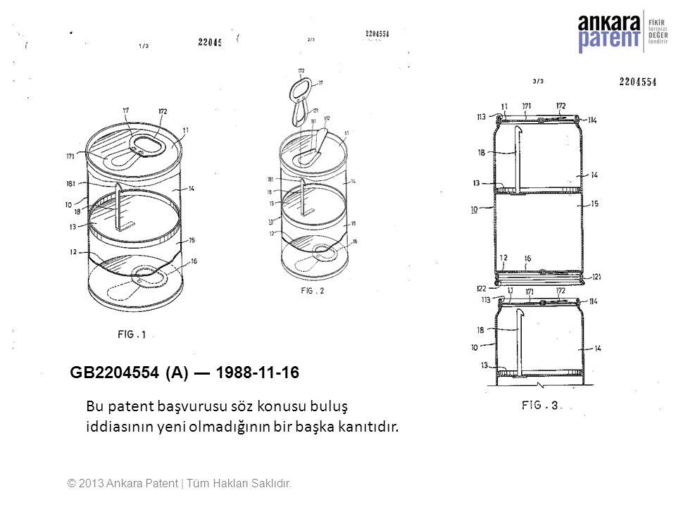 GB2204554 (A) ― 1988-11-16 © 2013 Ankara Patent | Tüm Hakları Saklıdır. Bu patent başvurusu söz konusu buluş iddiasının yeni olmadığının bir başka kan