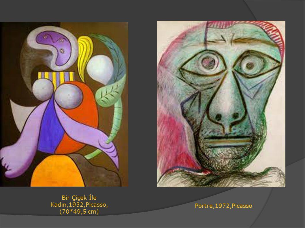 Portre,1972,Picasso Bir Çiçek İle Kadın,1932,Picasso, (70*49,5 cm)