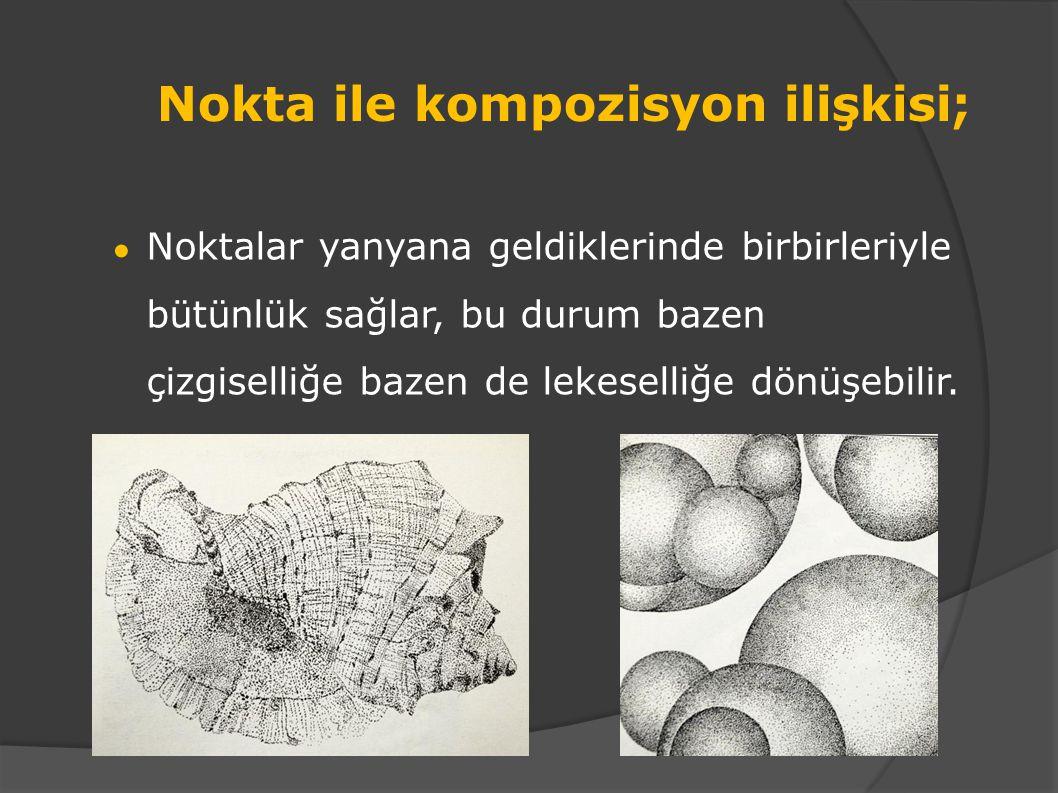 Nokta ile serbest çalışma Nokta ile açık-koyu çalışması