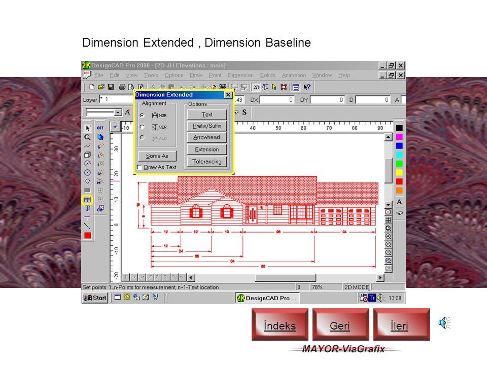 DesignCAD Help (F1) İndeks Geriİleri