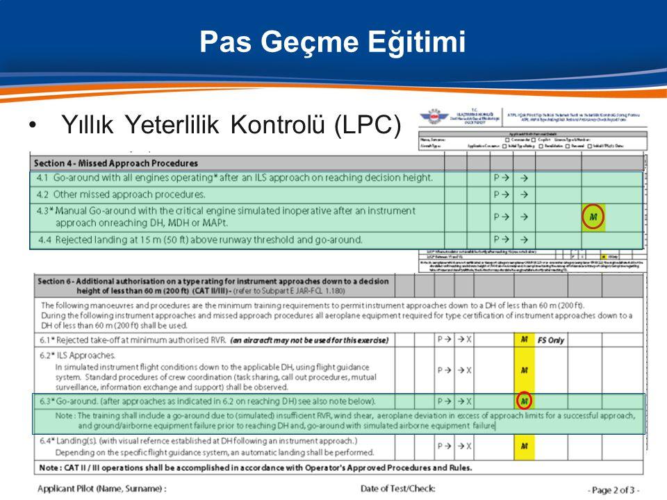 •Yıllık Yeterlilik Kontrolü (LPC) Pas Geçme Eğitimi 10