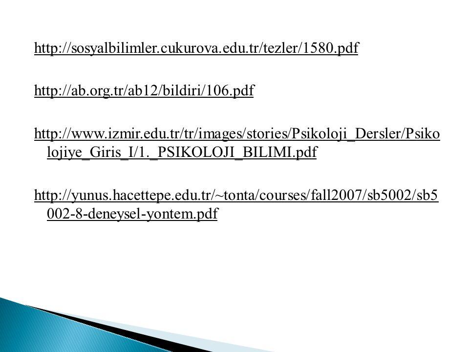 http://sosyalbilimler.cukurova.edu.tr/tezler/1580.pdf http://ab.org.tr/ab12/bildiri/106.pdf http://www.izmir.edu.tr/tr/images/stories/Psikoloji_Dersle