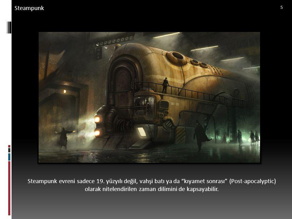 Perspektif – Temel Özellikler Final Teslimi Örneklere benzer biçimde, steampunk evreninde yer alan bir dış mekanı A3 kağıda çiziniz.