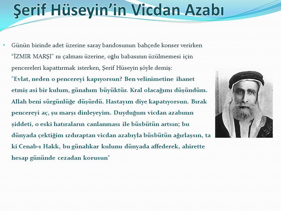 • Daha sonra Osmanlı'nın zayıflaması üzerine Vahabiler güçlenmişlerdi. Ayrıca bölgede İngiltere'nin desteğini alan Şerif Hüseyin 1916'da Arap memleket