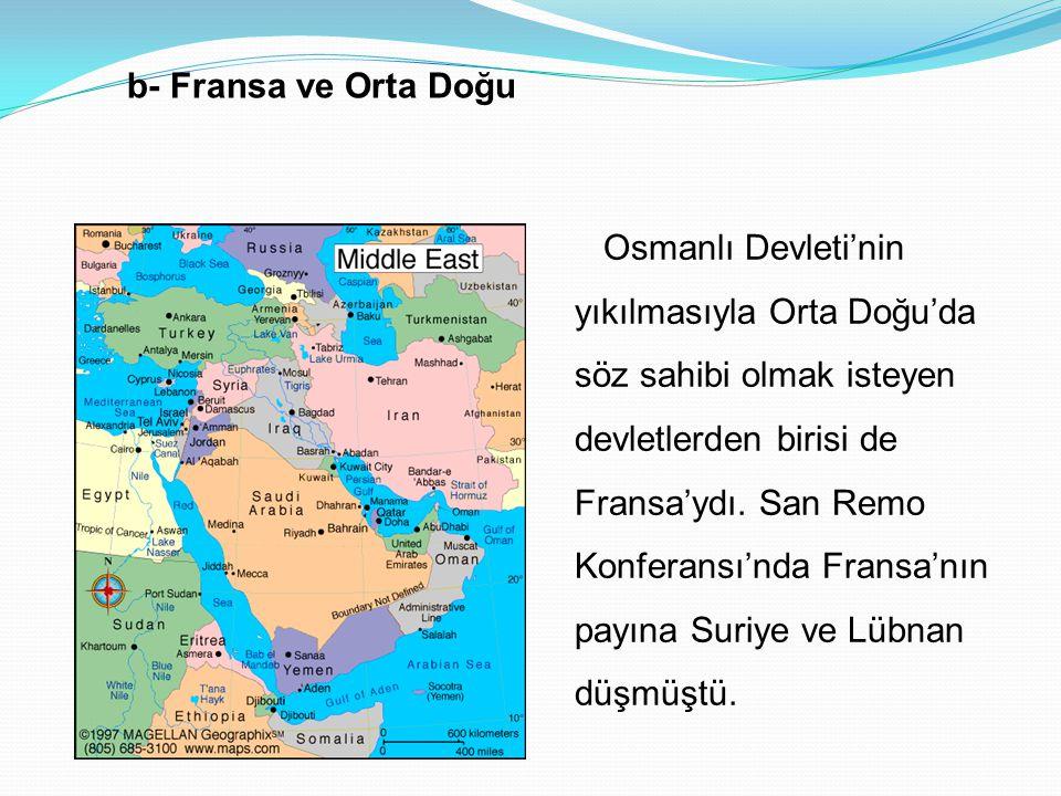 • Osmanlı Devleti'nin I.Dünya Savaşı'na girmesi üzerine İngiltere Mısır üzerinde himaye kurmuştur. Bu arada gelişmekte olan Mısır milliyetçiliği savaş
