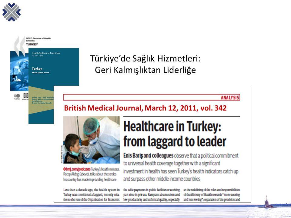 34 Türkiye'de Sağlık Hizmetleri: Geri Kalmışlıktan Liderliğe
