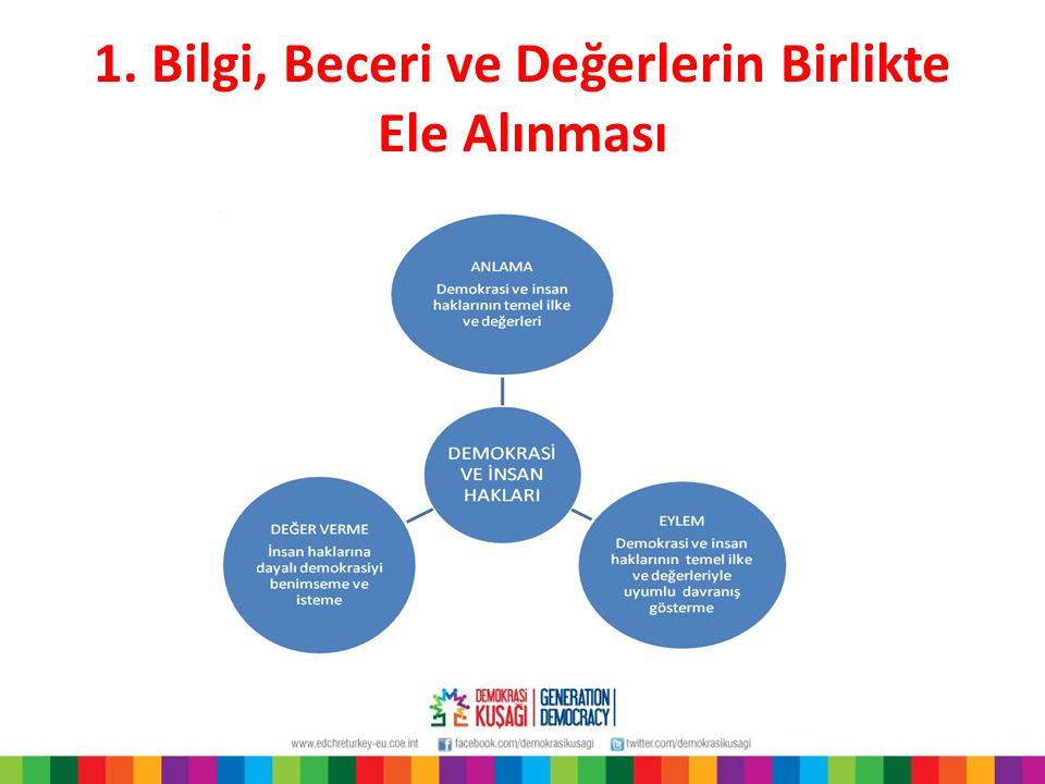 1. Bilgi, Beceri ve Değerlerin Birlikte Ele Alınması