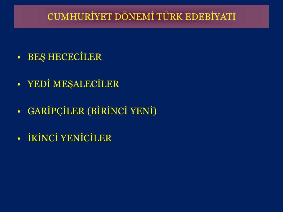 KEMAL TAHİR (1910 - 1971) •Yapıtlarının konularını Çankırı, Çorum dolaylarından, cezaevi yaşantılarından, Kurtuluş Savaşı'ndan, eşkıya menkıbelerinden almıştır.