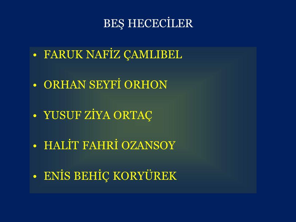GARİPÇİLER (BRİNCİ YENİ) •1941'de Orhan Veli Kanık, Melih Cevdet Anday ve Oktay Rifat Horozcu adlı şairler; şiirde var olan aşırı duygusallığa, şairaneliğe, basmakalıp söyleyişe başkaldıran şiirlerini 'Garip adlı bir kitapta yayımlamışlardır.