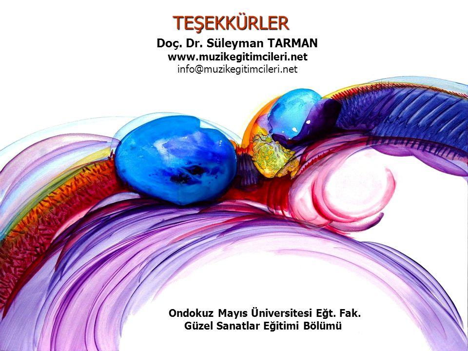 Kendi CD'ni Kendin Yap - Tarman©200624 TEŞEKKÜRLER Doç. Dr. Süleyman TARMAN www.muzikegitimcileri.net info@muzikegitimcileri.net Ondokuz Mayıs Ünivers