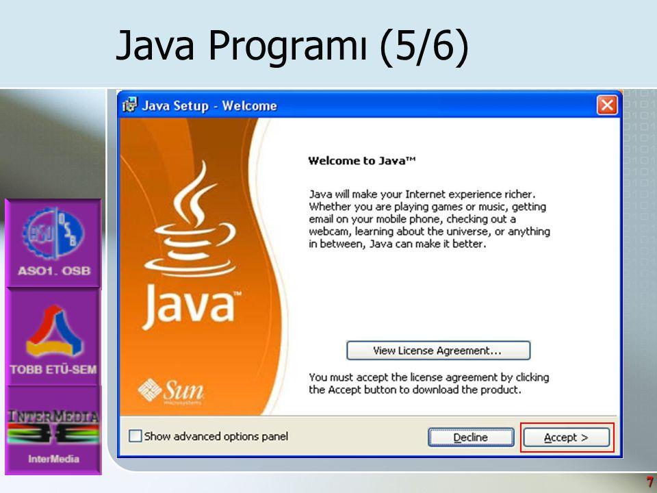 8 Java Programı (6/6)