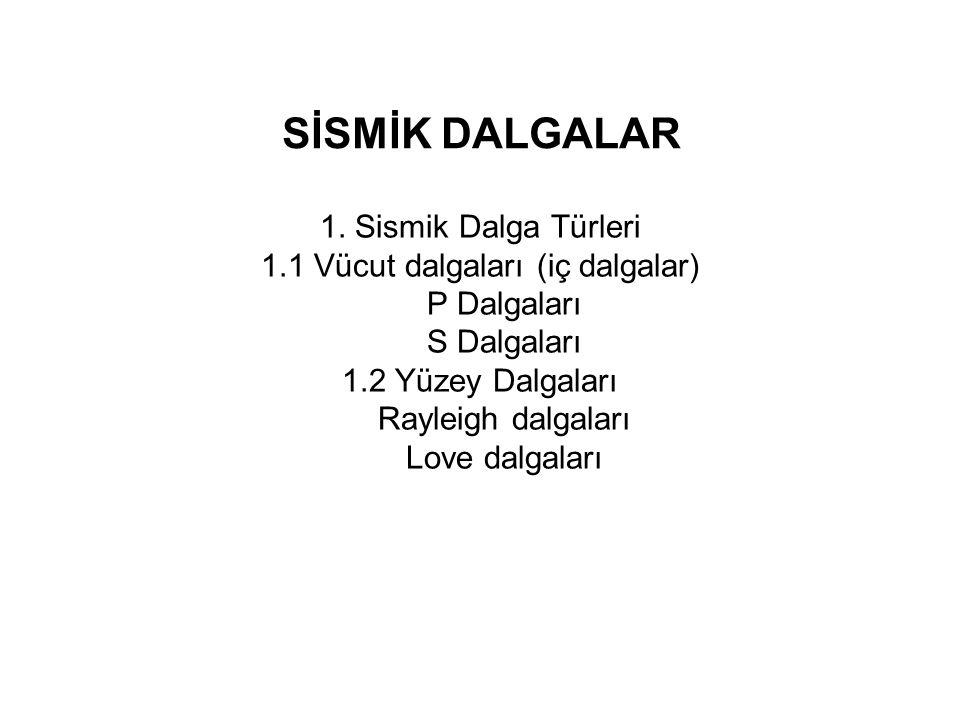SİSMİK DALGALAR 1.