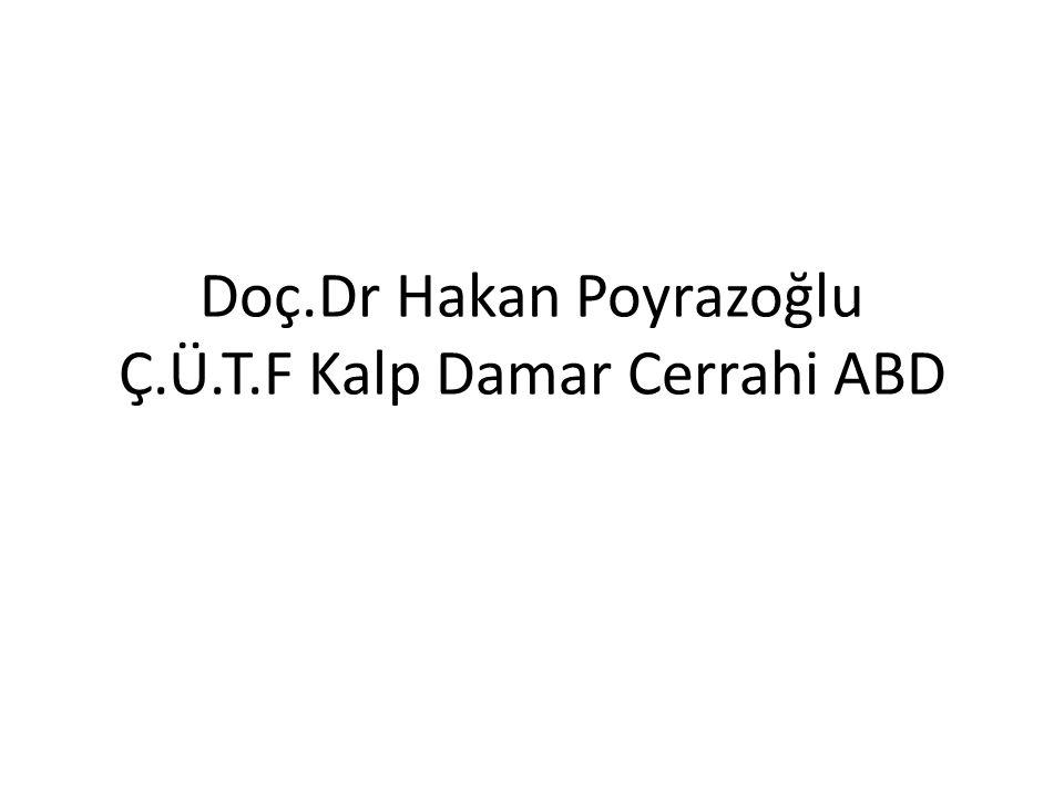 Doç.Dr Hakan Poyrazoğlu Ç.Ü.T.F Kalp Damar Cerrahi ABD