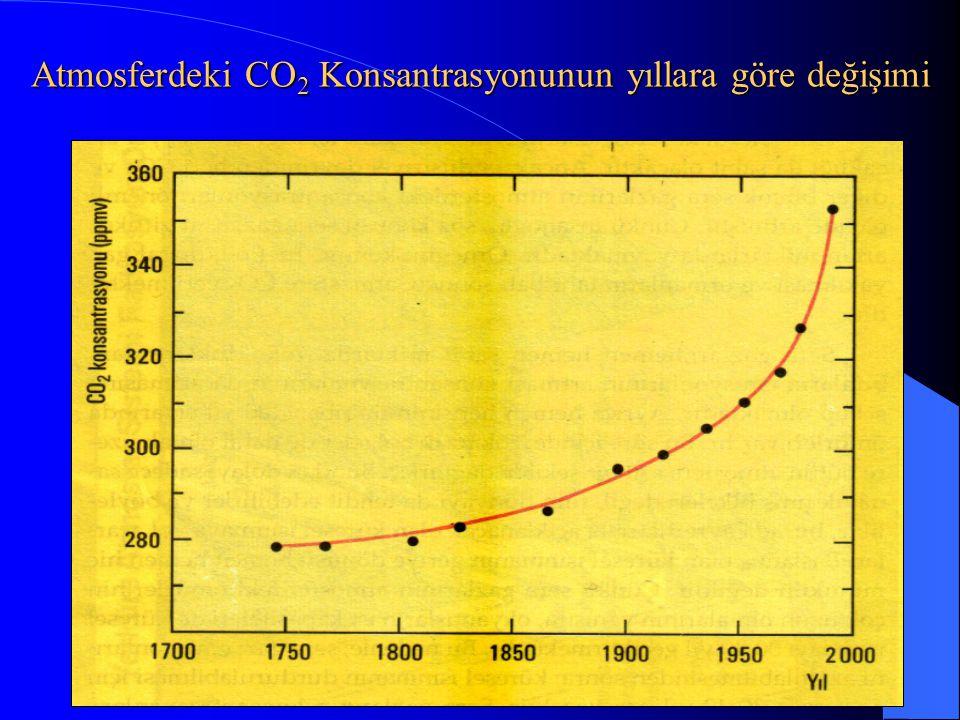Atmosferdeki CO 2 Konsantrasyonunun yıllara göre değişimi