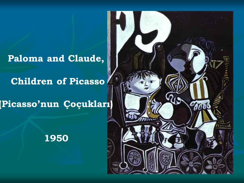 Paloma and Claude, Children of Picasso (Picasso'nun Çoçukları) 1950