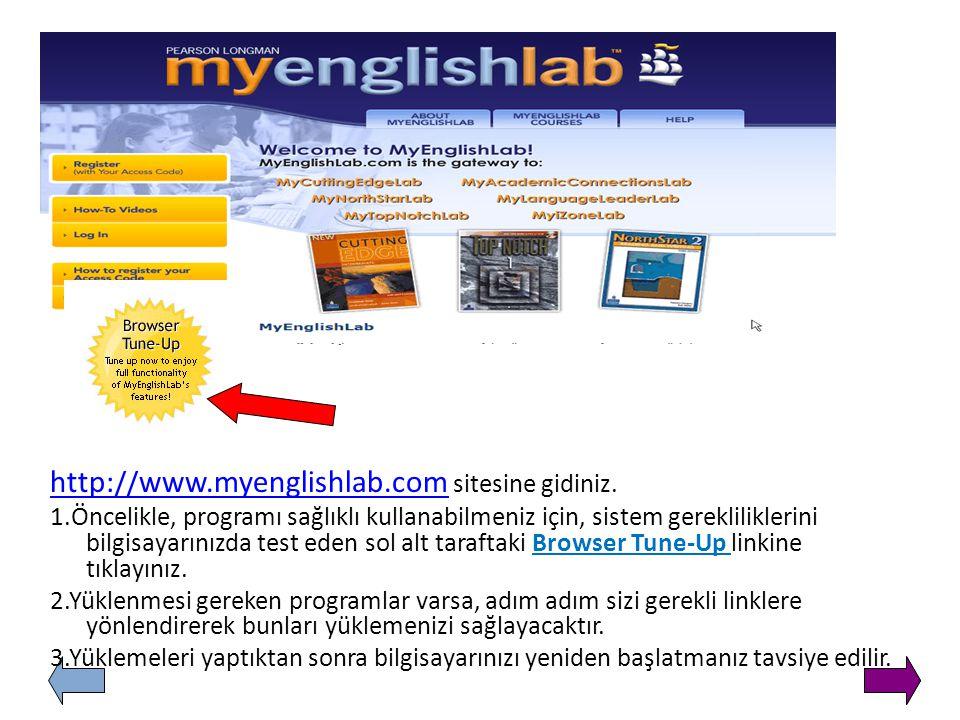 http://www.mynorthstarlab.comhttp://www.mynorthstarlab.com sitesine gidiniz. Öncelikle, programı sağlıklı kullanabilmeniz için, sistem gerekliliklerin