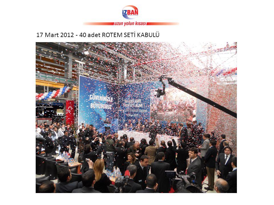 17 Mart 2012 - 40 adet ROTEM SETİ KABULÜ
