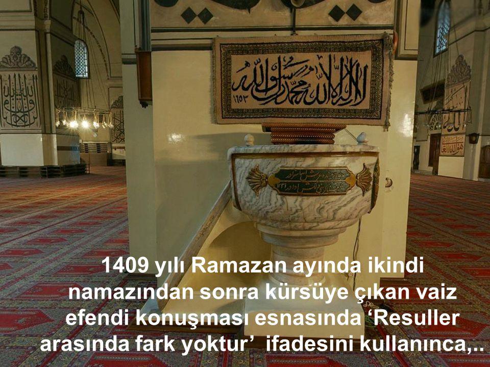 Bu mihrabın ilk imamı Mevlid yazarı Süleyman Çelebi'dir.