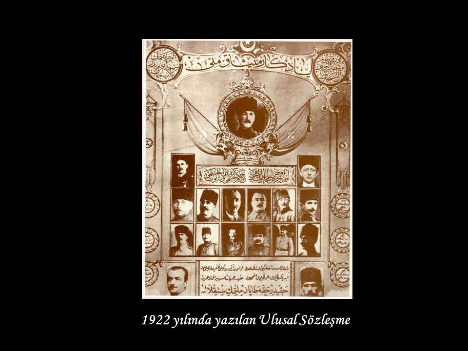 1922 yılında yazılan Ulusal Sözleşme
