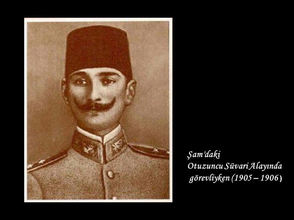 Mustafa Kemal arkadaşları ile İstanbul da (1909)