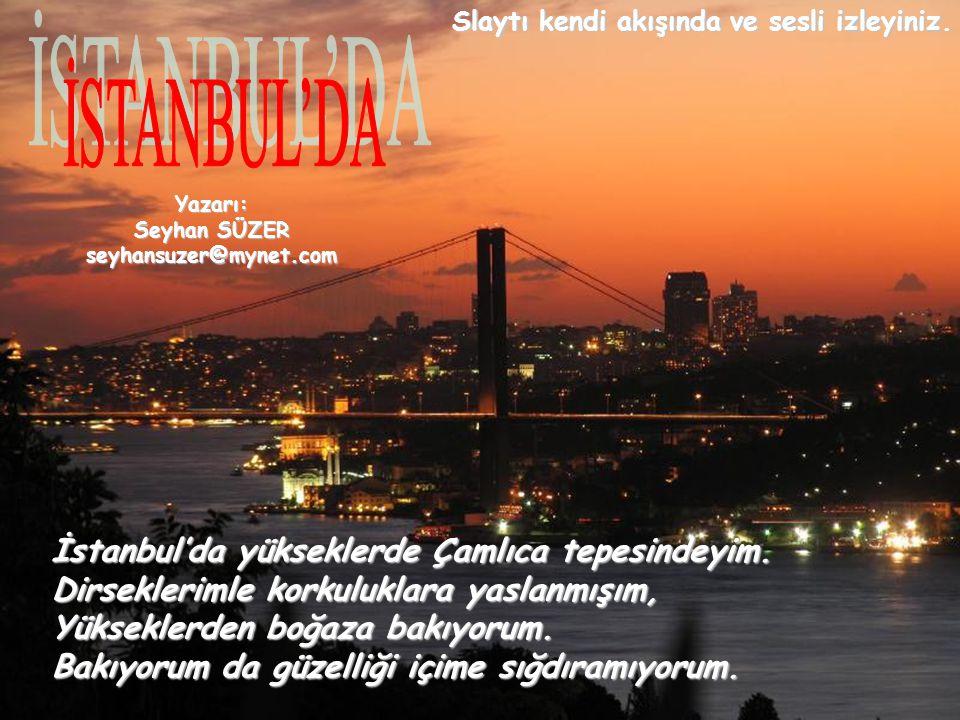 İstanbul'da yükseklerde Çamlıca tepesindeyim.