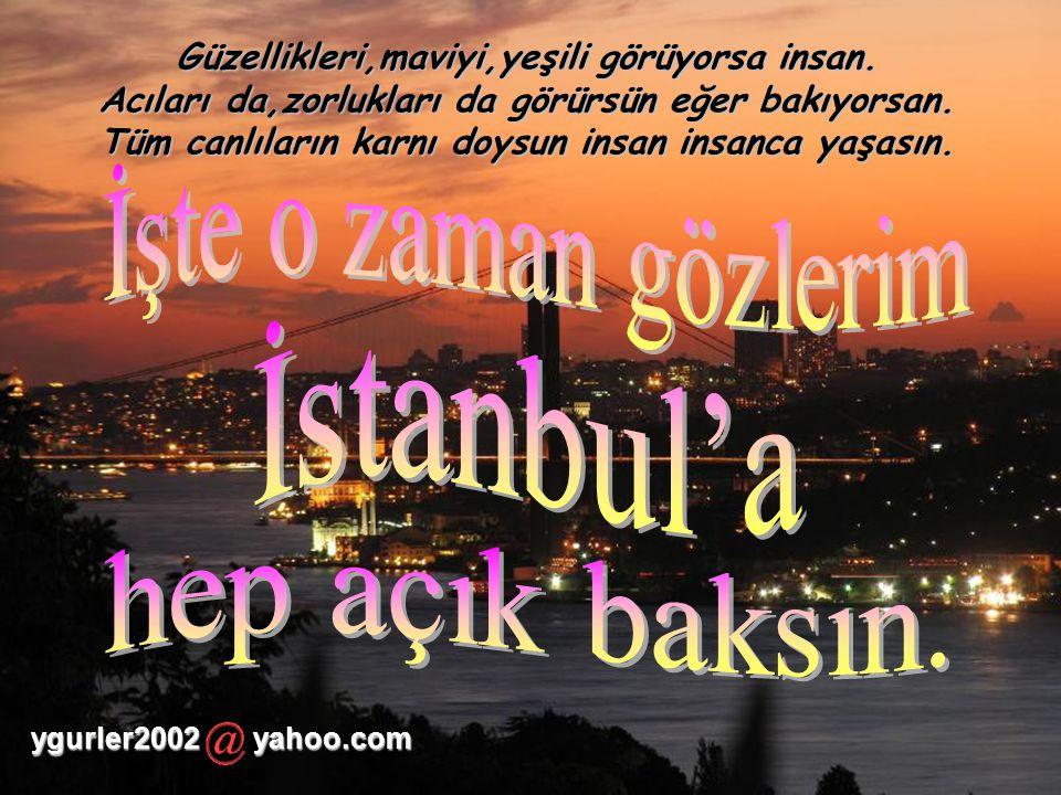 Aklıma geldin büyük şair,büyük insan.Ne güzel bahsetmiştin canım İstanbul'dan.