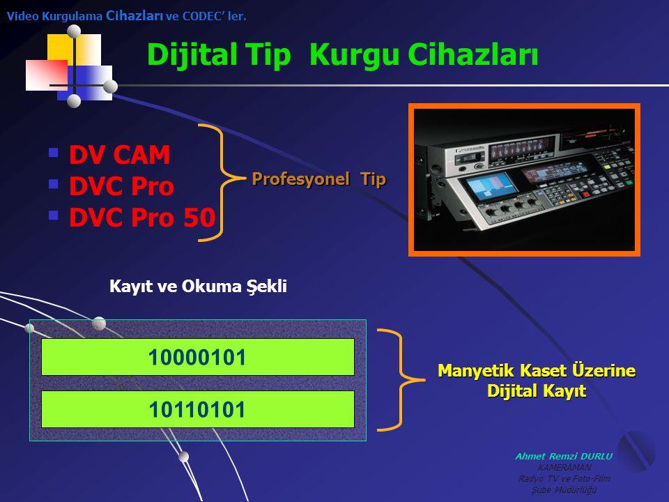 Ahmet Remzi DURLU KAMERAMAN Radyo TV ve Foto-Film Şube Müdürlüğü  D V CAM VC Pro VC Pro 50 Profesyonel Tip Dijital Tip Kurgu Cihazları 10110101 10000