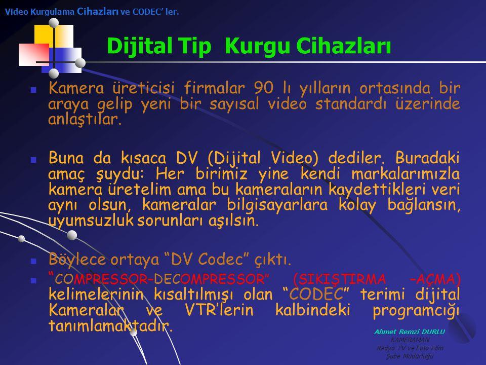 Ahmet Remzi DURLU KAMERAMAN Radyo TV ve Foto-Film Şube Müdürlüğü KKamera üreticisi firmalar 90 lı yılların ortasında bir araya gelip yeni bir sayısa