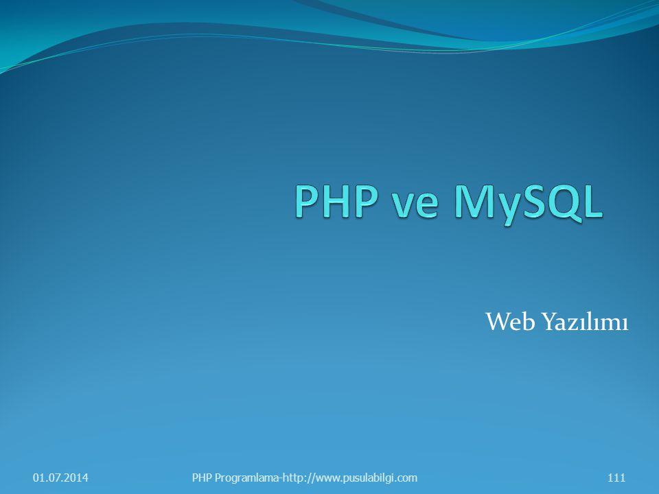 Web Yazılımı 01.07.2014111PHP Programlama-http://www.pusulabilgi.com