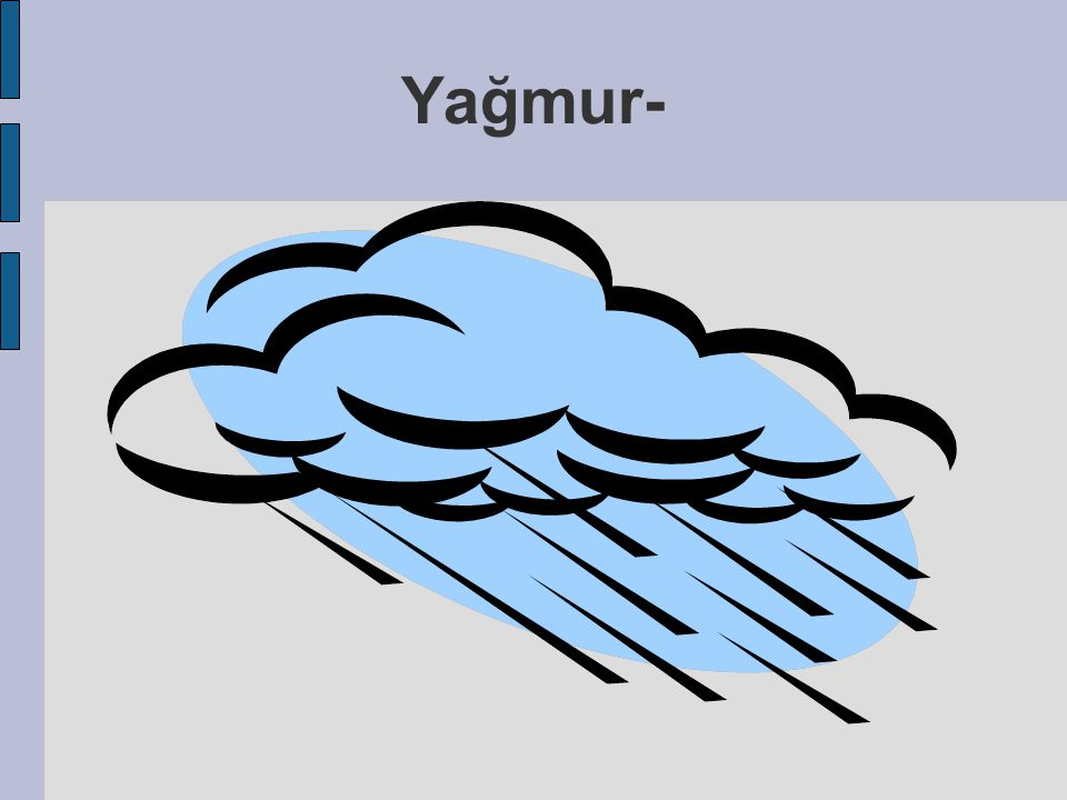  Isınan gaz yükselir,Bulut lar oluşur,ısınan bulut yükselir ve soğur ve yağmur yağmaya başlar.