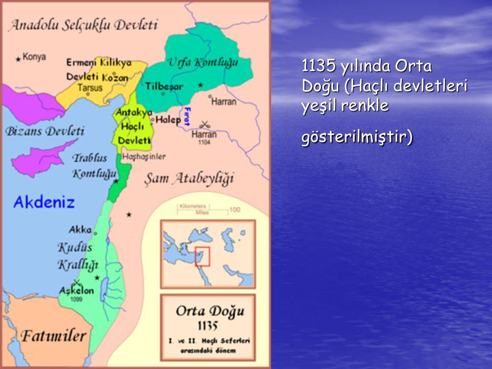 II.Haçlı Seferi (1147-1149) • Musul Atabeyi İmadeddin Zengi,Urfa Latin Kontluğu'na son verince Alman İmparatoru III.Konrad ile Fransa Kralı VII.Lui ordularıyla haçlı seferine çıktılar.