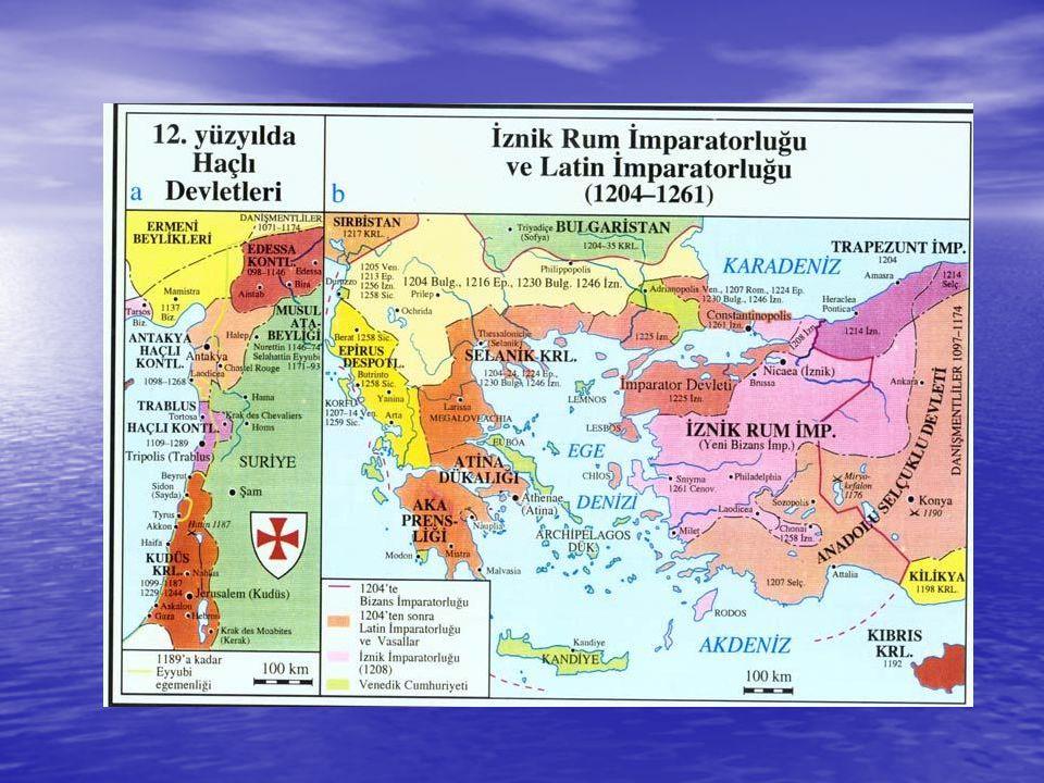 HAÇLI SEFERLERİNİN SONUÇLARI • Dini Sonuçları: • • Avrupa'da din adamlarına ve kiliseye duyulan güven azaldı.