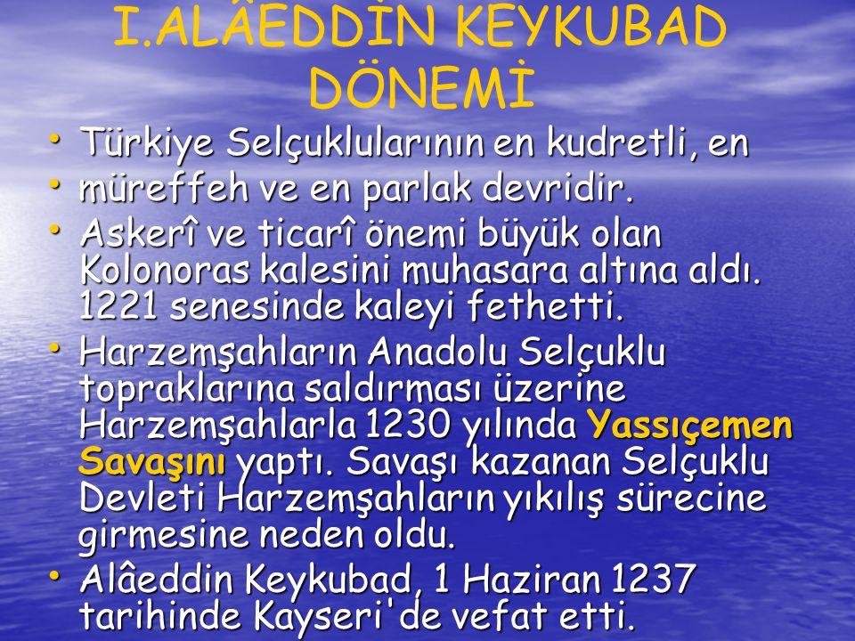 • Zamanının çoğunu sarayda geçiren II.Gıyaseddin Keyhüsrev, devlet işlerini vezirine devretti.