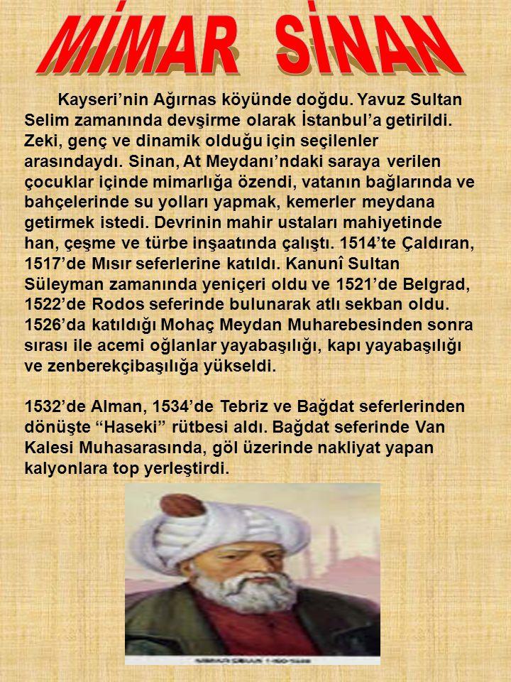 Kayseri'nin Ağırnas köyünde doğdu. Yavuz Sultan Selim zamanında devşirme olarak İstanbul'a getirildi. Zeki, genç ve dinamik olduğu için seçilenler ara