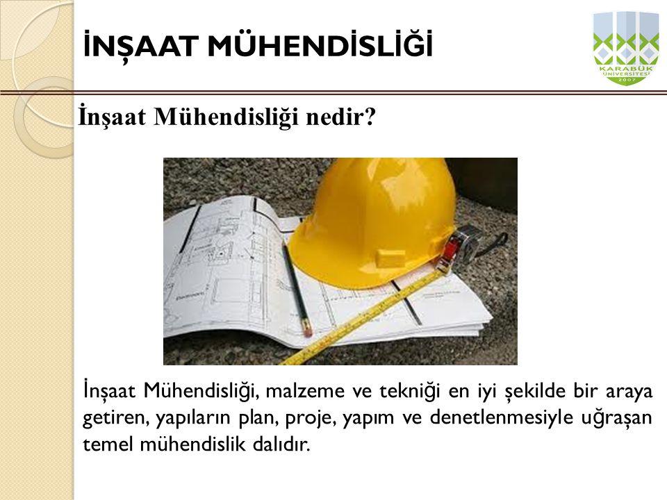 Uzmanlık ve çalışma alanı ne olursa olsun, inşaat mühendisi kuraca ğ ı yapının dayanıklılı ğ ını sa ğ lamakla yükümlüdür.