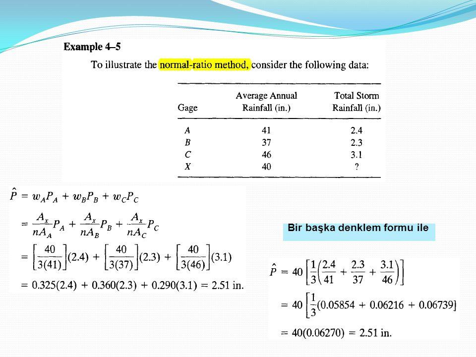 Bir başka denklem formu ile
