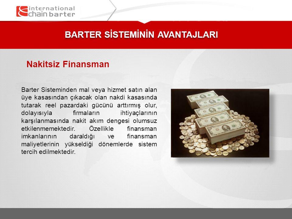 Mal ve Hizmet Alımlarında Tasarruf Uygulamada satın alım limiti bulunan barter üyeleri, nakit para kullanmadıklarından faizsiz ticaret yapmaktadırlar.