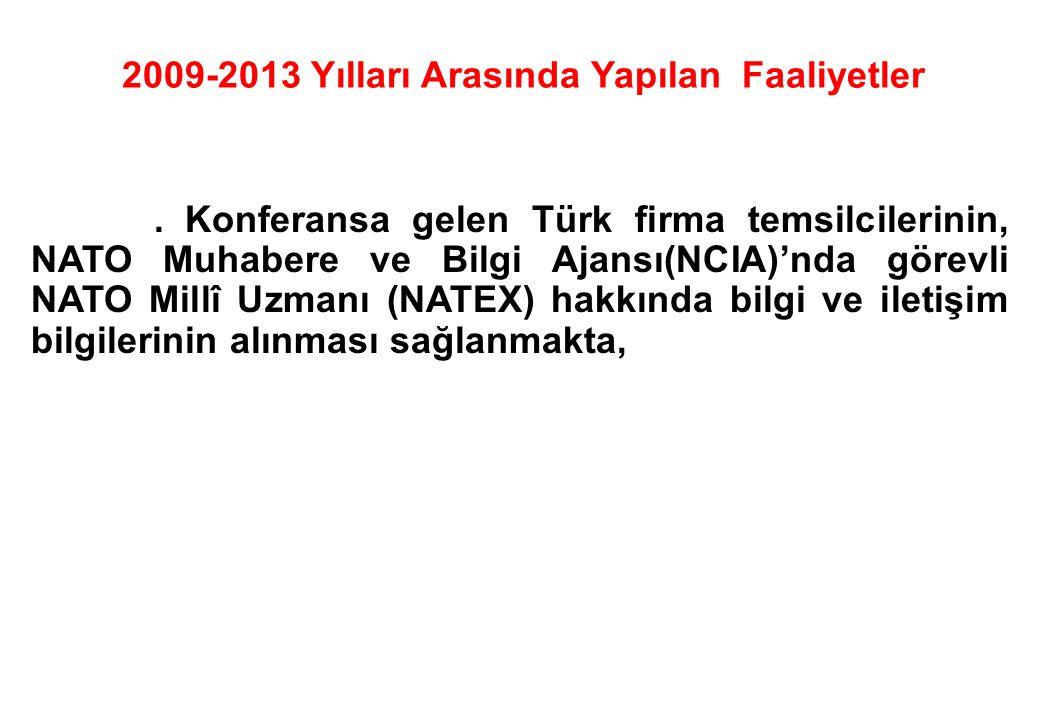 . Konferansa gelen Türk firma temsilcilerinin, NATO Muhabere ve Bilgi Ajansı(NCIA)'nda görevli NATO Millî Uzmanı (NATEX) hakkında bilgi ve iletişim bi