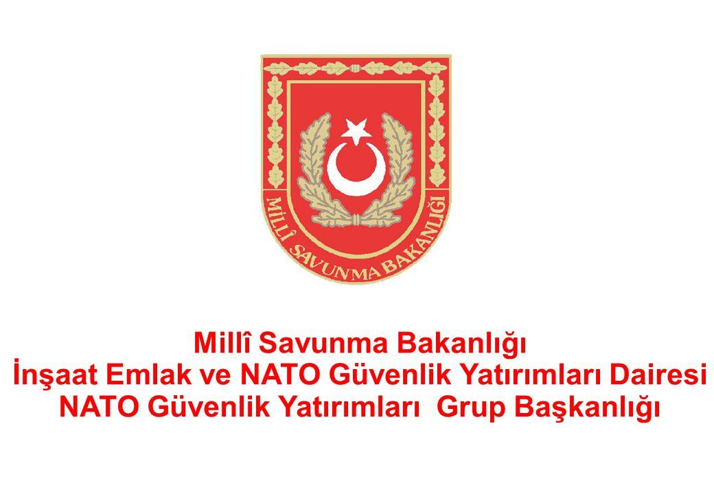 Millî Savunma Bakanlığı İnşaat Emlak ve NATO Güvenlik Yatırımları Dairesi NATO Güvenlik Yatırımları Grup Başkanlığı