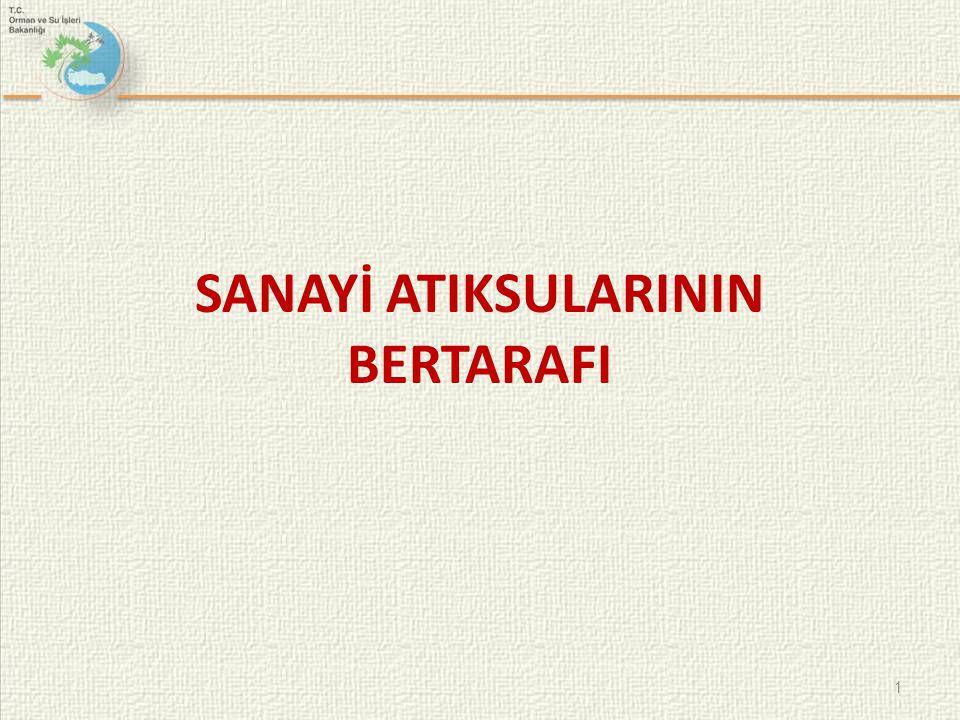 SANAYİ ATIKSULARININ BERTARAFI 1
