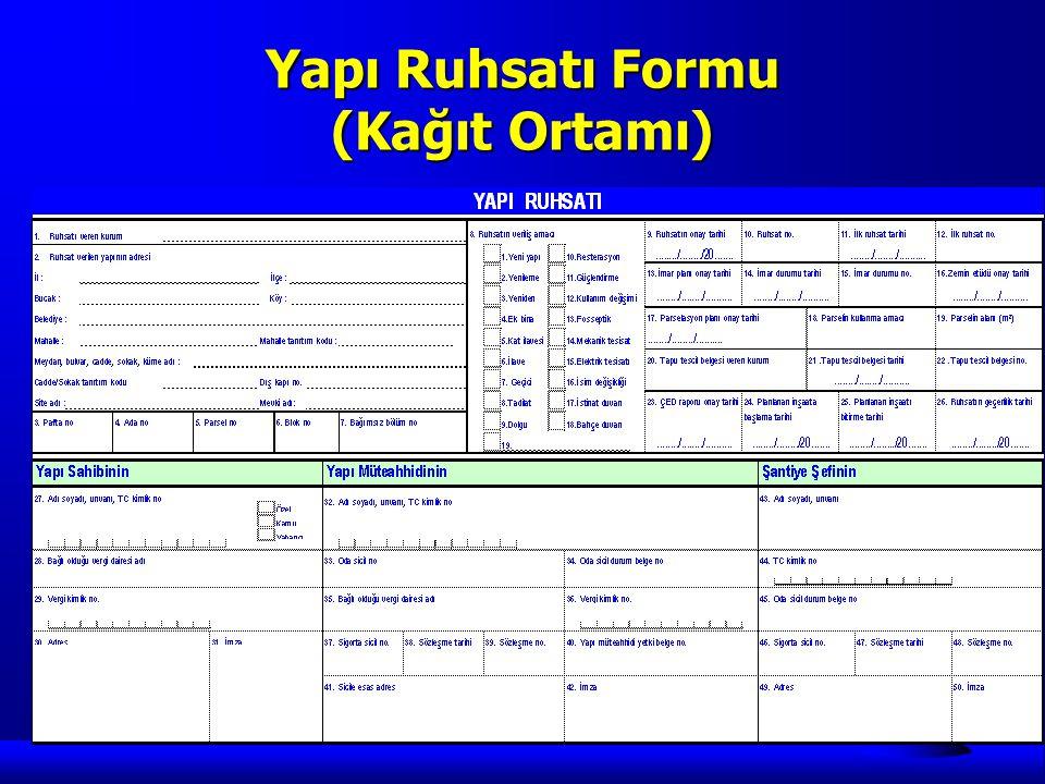 Yapı Ruhsatı Formu (Kağıt Ortamı)