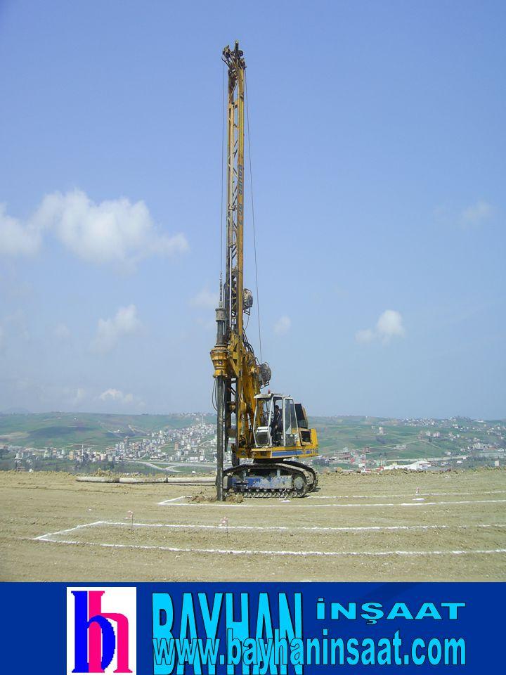 TETAŞ TEKSTİL Hadımköy Fabrikası 400m Ø 65 cm Fore Kazık yapımı işi(2006-İstanbul) YEDA İNŞAAT Güngören Genel Lise inşaatı 1.145 m Ø 65 cm ve Ø 100 cm Fore Kazık işleri (2006-İstanbul) SAMSUN BÜYÜKŞEHİR BELEDİYESİ Sebzehali kıranköy mezarlığı arası Fore Kazık yapım işi (2006-Samsun) YAŞAMKENT KONUT YAPI KOOPERATİF İNŞAATI Fore kazık yapımı (2006-Samsun) ILGAZ İNŞAT Ankara- İstanbul hızlı tren yolu iyileştirme projesi tren yolu köprüleri Temel Kazıkları, ölçümleri (2006-Ankara) NUHOĞLU İNŞAAT A.Ş.