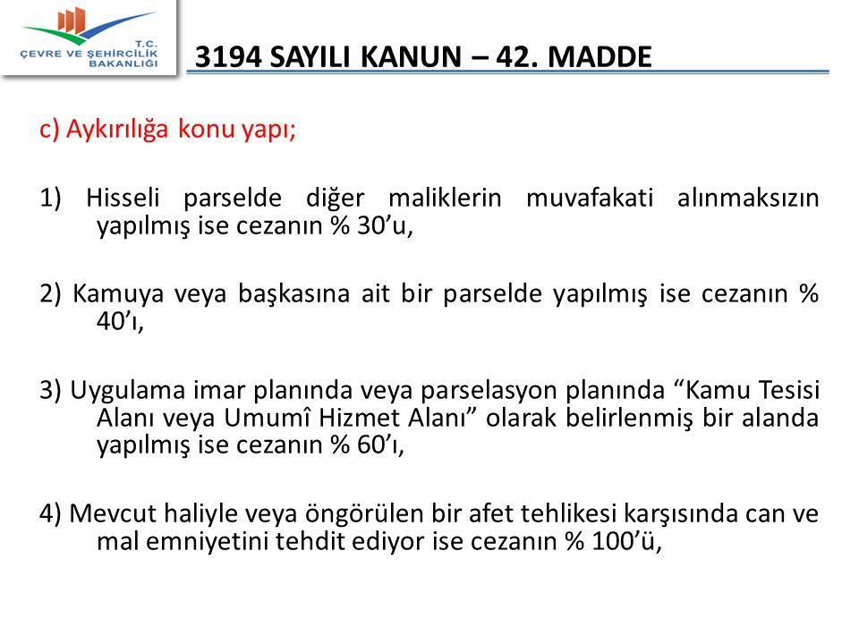 3194 SAYILI KANUN – 42.