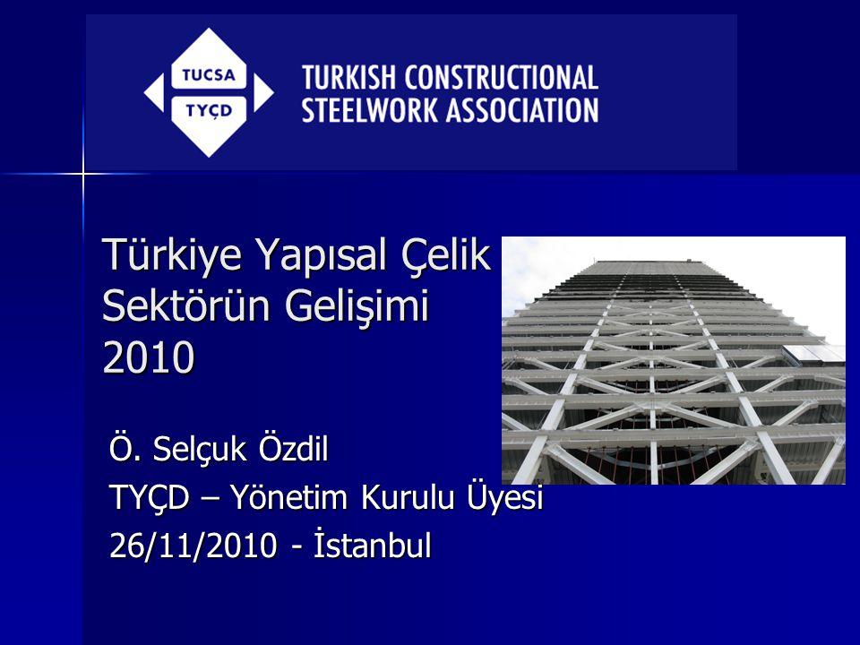 Türkiye Yapısal Çelik Sektörün Gelişimi 2010 Ö. Selçuk Özdil TYÇD – Yönetim Kurulu Üyesi 26/11/2010 - İstanbul