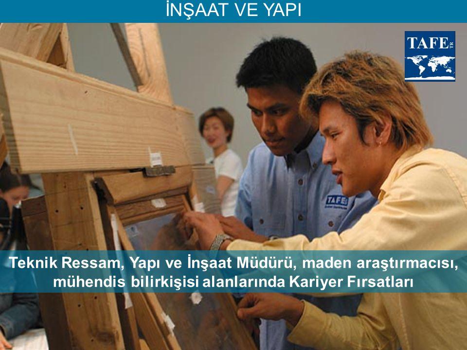İNŞAAT VE YAPI Teknik Ressam, Yapı ve İnşaat Müdürü, maden araştırmacısı, mühendis bilirkişisi alanlarında Kariyer Fırsatları