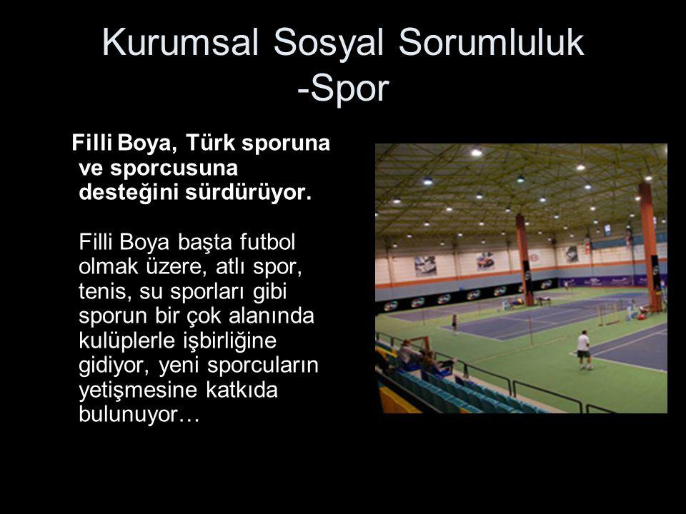 Kurumsal Sosyal Sorumluluk -Spor Filli Boya, Türk sporuna ve sporcusuna desteğini sürdürüyor.