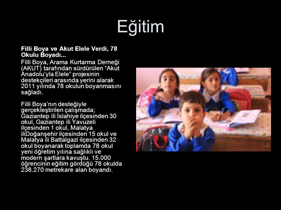 Eğitim Filli Boya ve Akut Elele Verdi, 78 Okulu Boyadı...