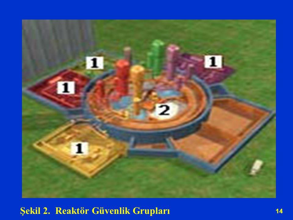 14 Şekil 2. Reaktör Güvenlik Grupları