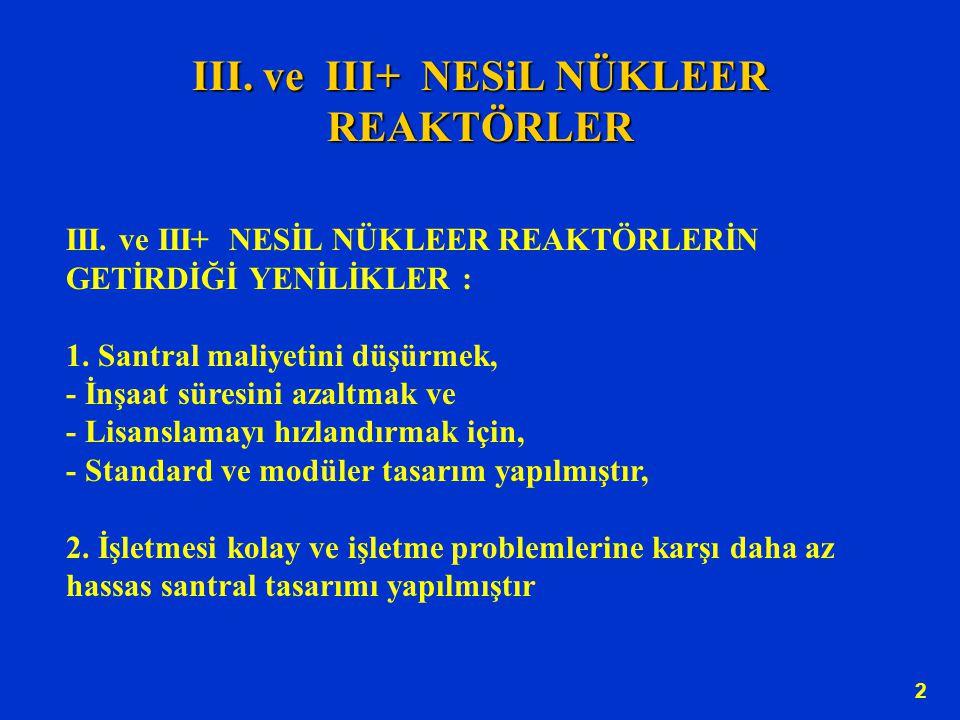 III.ve III+ NESiL NÜKLEER REAKTÖRLER 2 III.
