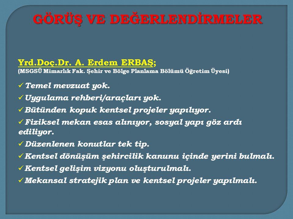 Doç.Dr.Murat Cemal YALÇINTAN; (MSGSÜ Mimarlık Fak.